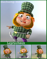 Cartoon Dwarf - Leprechaun NO RIG
