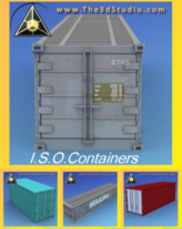 Five ISO Containers - Accurate and Detailed